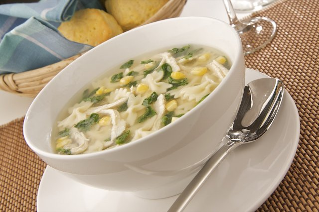Chicken Broth with Spinach