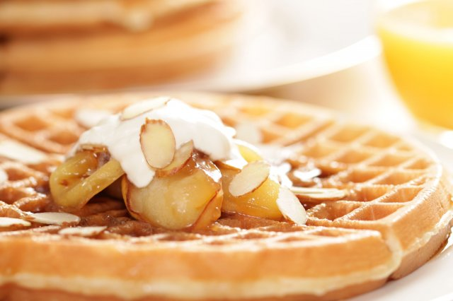 Waffles with Apple