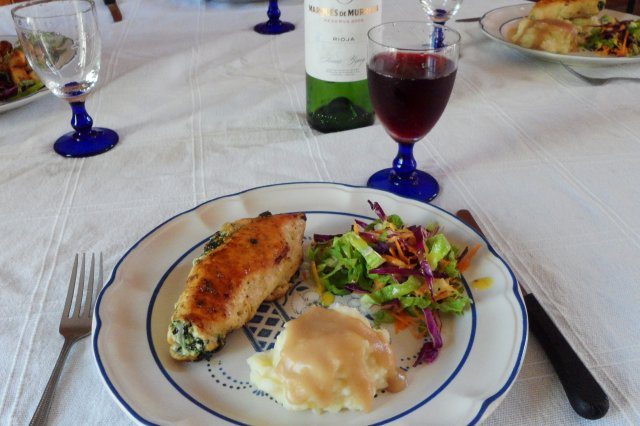 Stuffed Breast of Spinach and Ricotta Cheese