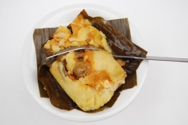 Tamales in Leaves of Plantain