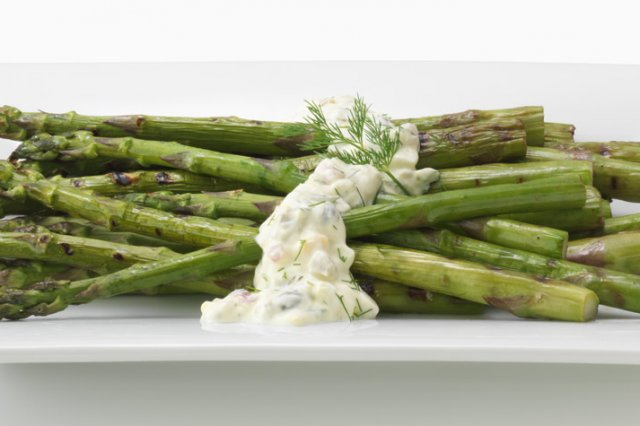 Grilled Asparagus with Gribiche Sauce FAGE