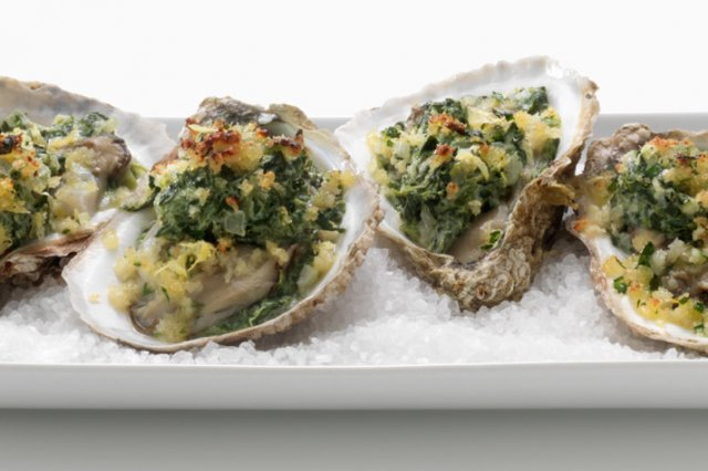 Rockefeller oysters with FAGE