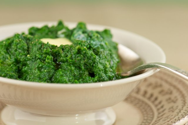 Spinach puree