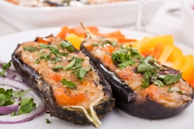 Meat Stuffed eggplants