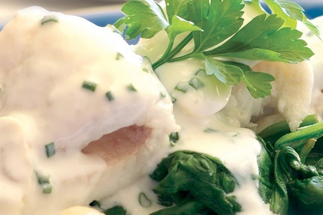 Scalded Filets in Mushroom Sauce and Yoghurt