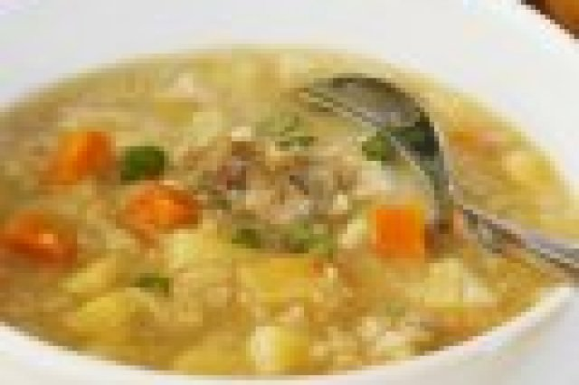 Soup of Barley, Chicken and Vegetables