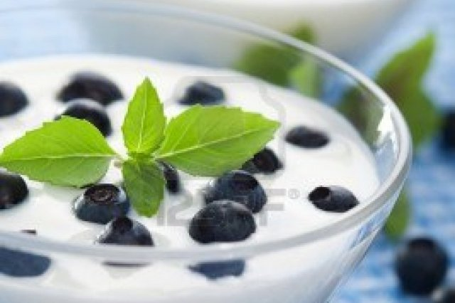Yogurt con Blueberries