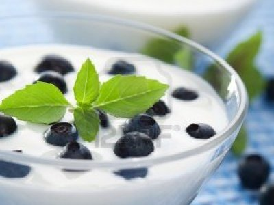 Receta de Yogurt con Blueberries