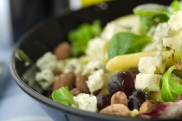 Salad with Grape, Cheese and Pinon
