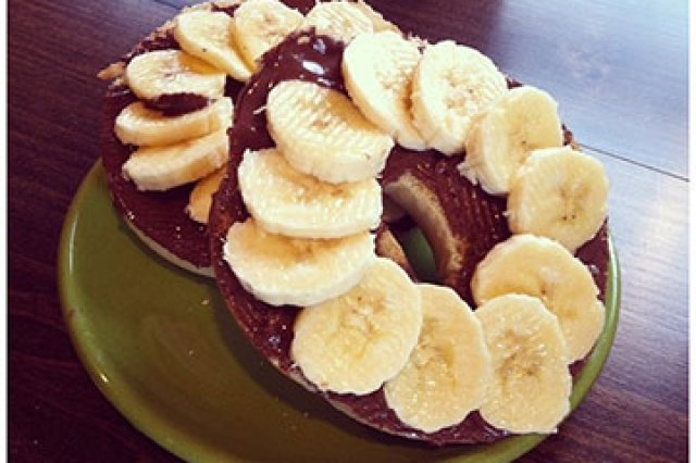 Bagel with Nutella and Banana
