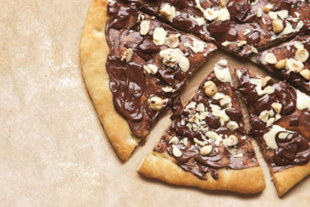 Pizza de Chocolate con Almendras