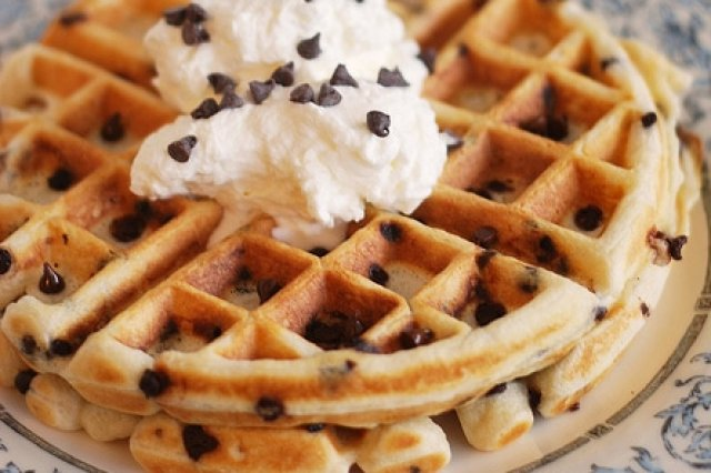 Waffles with Chocolate Sparks
