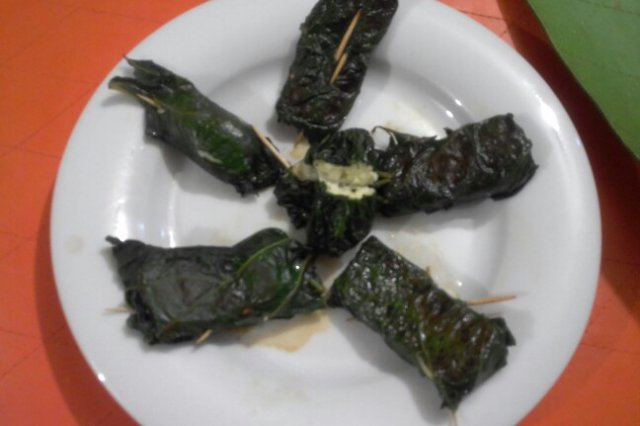 Panela Cheese Wrapped in Holy Leaf