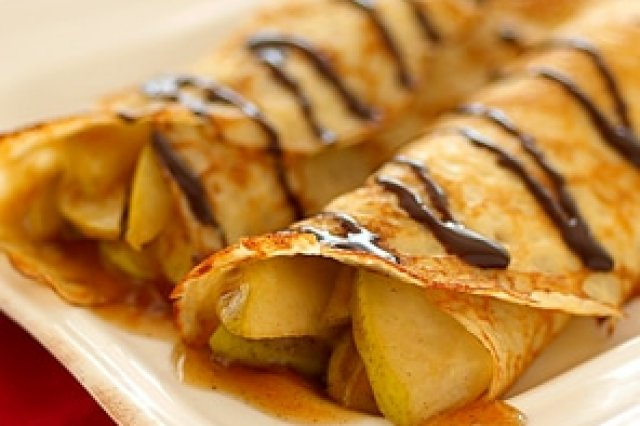 Caramelized Pears Crepes