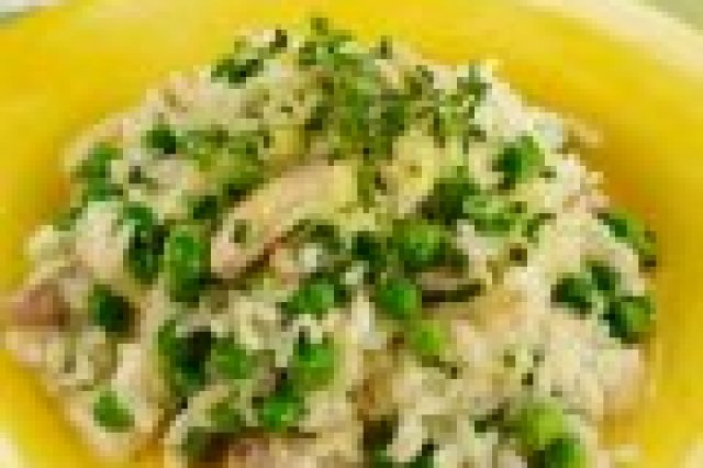 Risotto with Calabacitas and Chicaros
