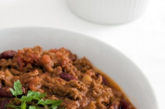 Chili with Sausage in Pressure Cooker