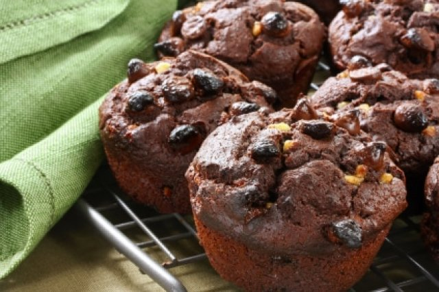 Chocolate Muffins and Cappucino