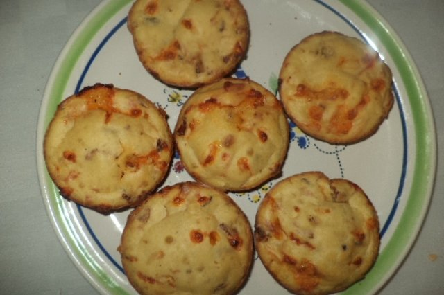 Bacon Cheese Muffins