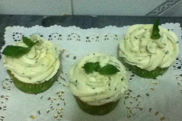 Lemon and Peppermint Muffins