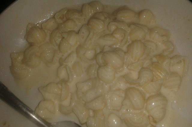 Conchitas with Cream of mushrooms and Chicken