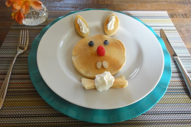 Easter Bunny Hotcakes