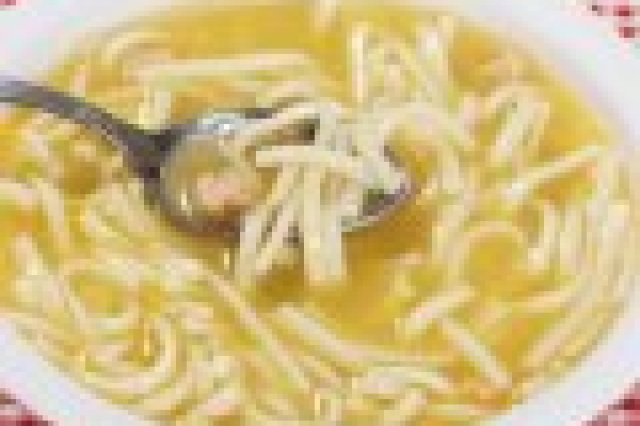 Chicken Broth and Lemon Noodles