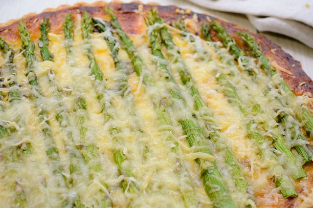 Asparagus Quiche and Goat Cheese
