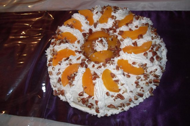 Cake of 3 Milks with Peach