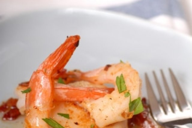 Shrimp and Calluses with Pepper Vinaigrette