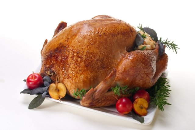 Red Wine Turkey with Apple Filling
