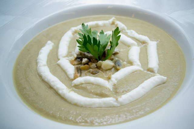 Cream of Huitlacoche with Yoghurt FAGE Total 0%