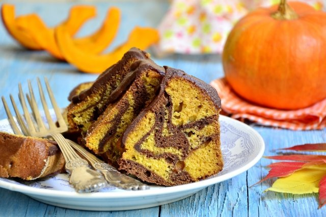 Marbled Pumpkin and Chocolate Pancake
