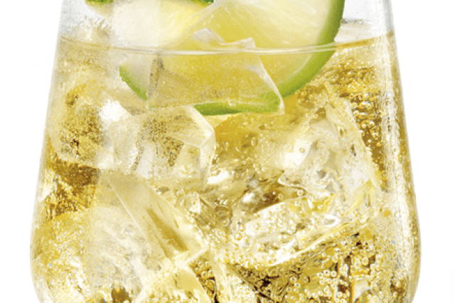 Frangelico with Soda and Limón