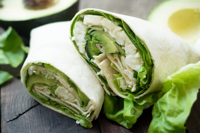 Clear Wrap with Feta Cheese