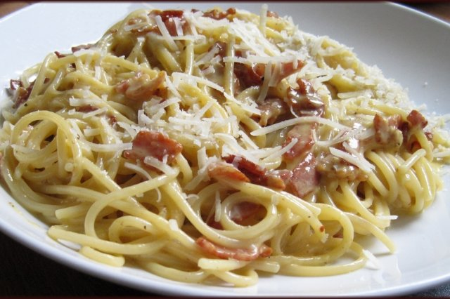 White Pasta with Bacon