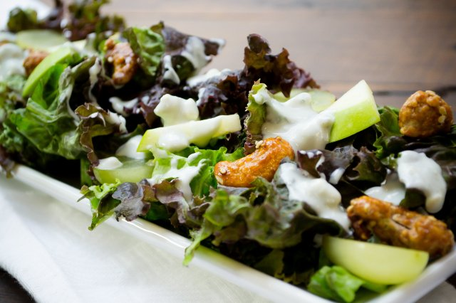 Waldorf Salad with Yoghurt Blue Cheese Dressing