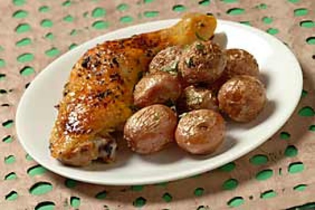 Chicken with Potatoes and Vinegar