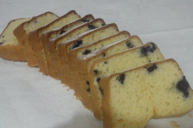 Panqué de Queso con Blueberries