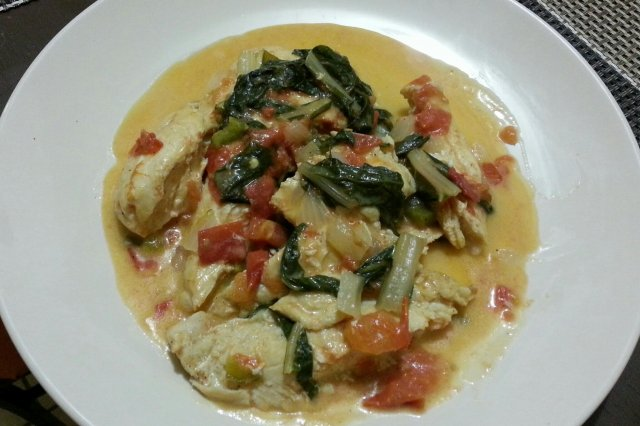 Breasts with Swiss Chard