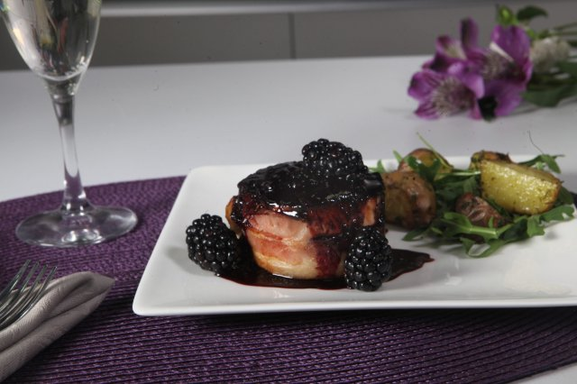 Filete Mignon con Marionberry Cátsup
