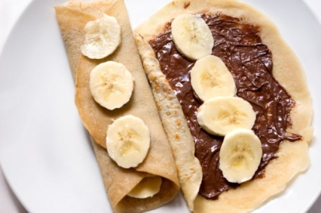 Crepes with Nutella and Plantain