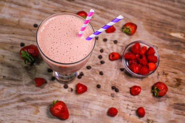 Chocolate and Raspberry Smoothie