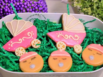 Receta de Galletas para Baby Shower Decoradas con Glaseado
