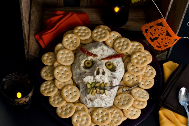 Cream Cheese Dip for Day of the Dead