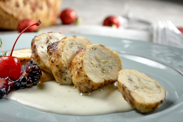 Chicken Breast Stuffed with Banana