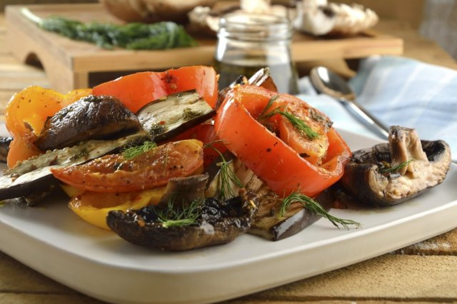 Salad of Grilled Vegetables with Chimichurri