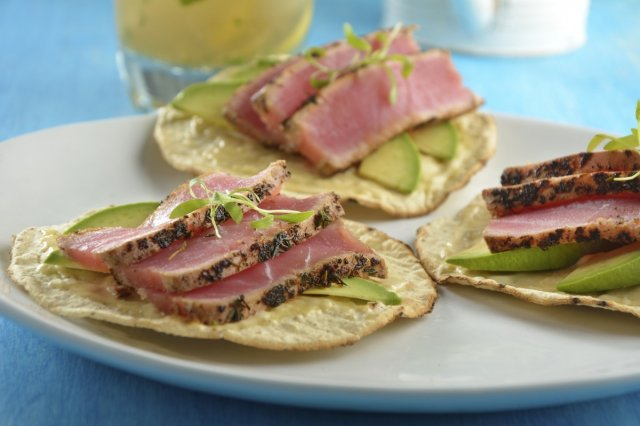 Seared Tuna Toast