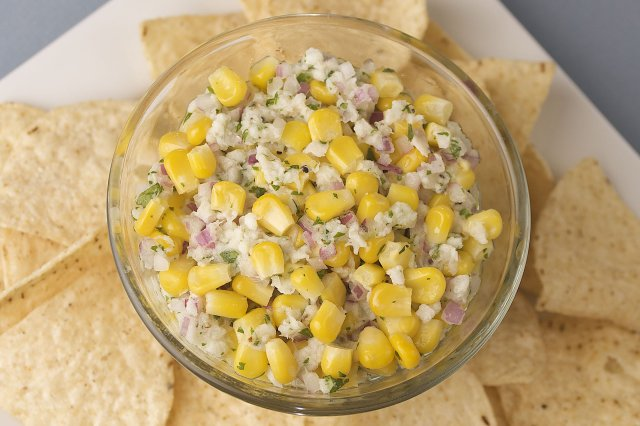 Fish Ceviche with Elote