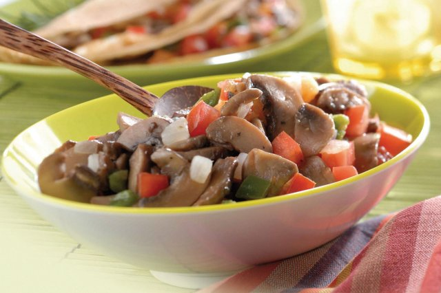 Mushrooms with pico de gallo