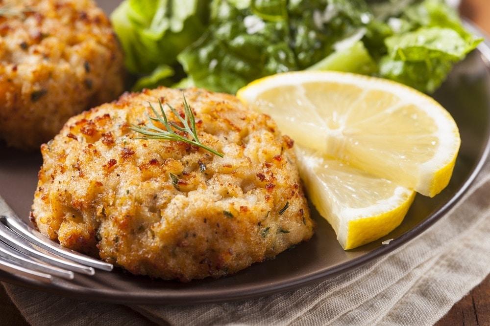 Crabcakes con Queso Parmesano